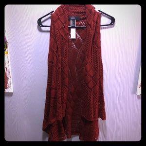 Crochet sleeveless cardigan